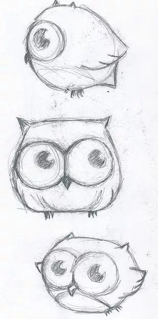 Красивые рисунки совы для срисовки007