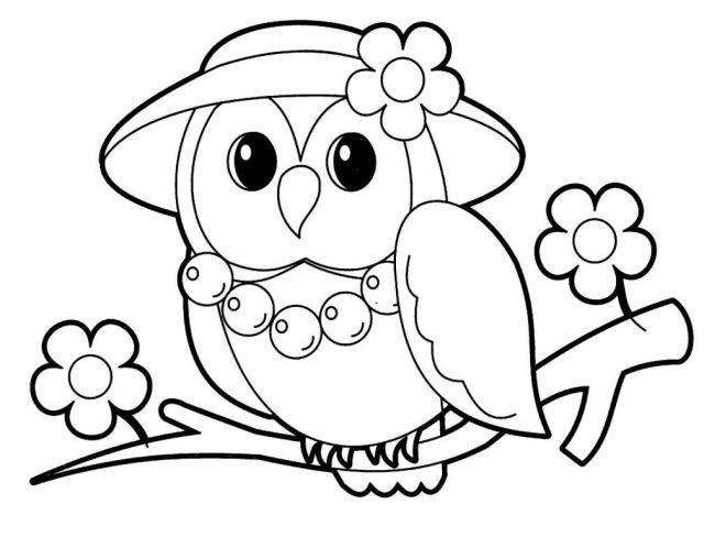 Красивые рисунки совы для срисовки011