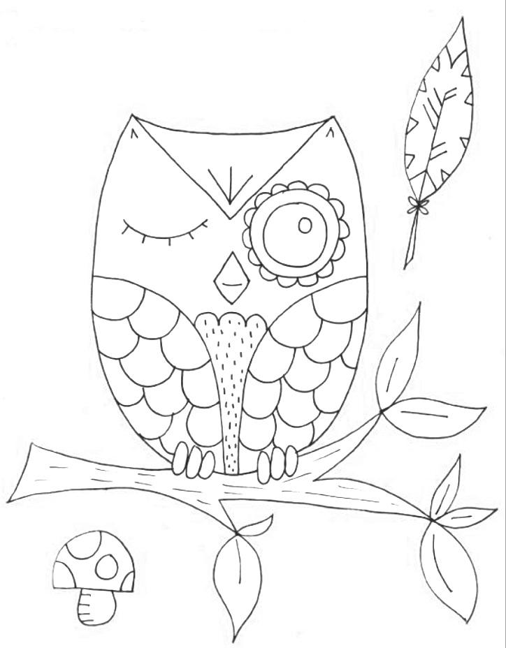 Красивые рисунки совы для срисовки012