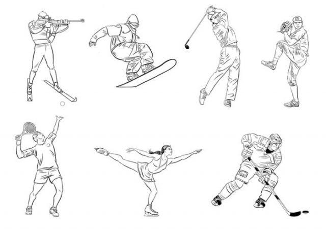 Красивые рисунки спорта для срисовки016