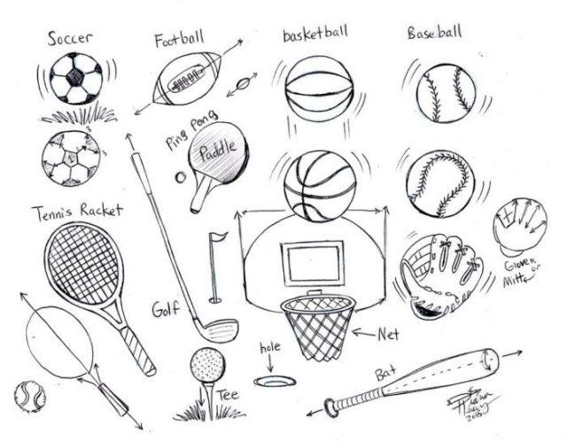 Красивые рисунки спорта для срисовки017
