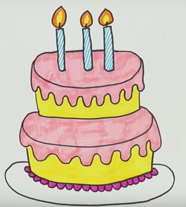 Красивые рисунки тортов для срисовки001
