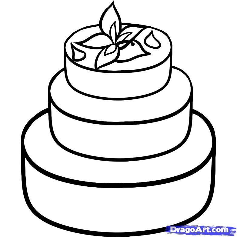 Красивые рисунки тортов для срисовки004
