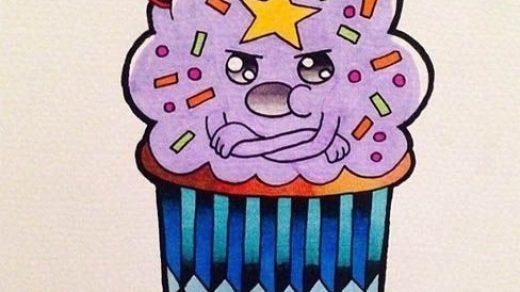 Красивые рисунки тортов для срисовки006