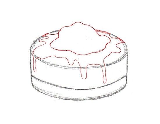 Красивые рисунки тортов для срисовки007