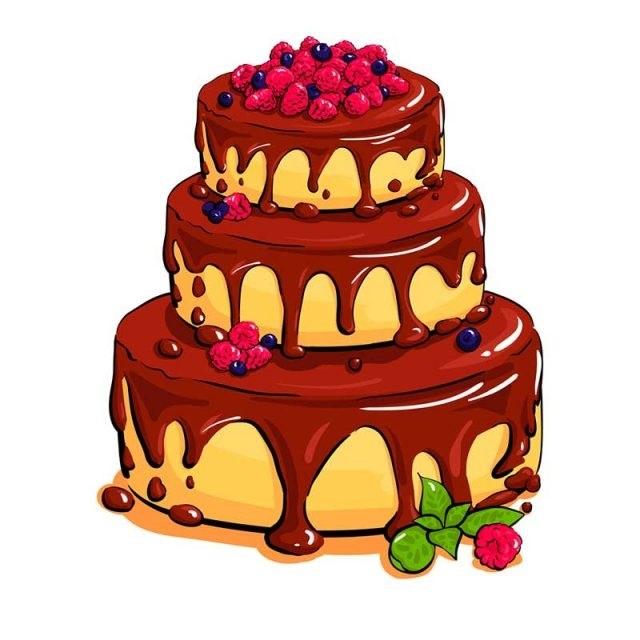 Красивые рисунки тортов для срисовки008