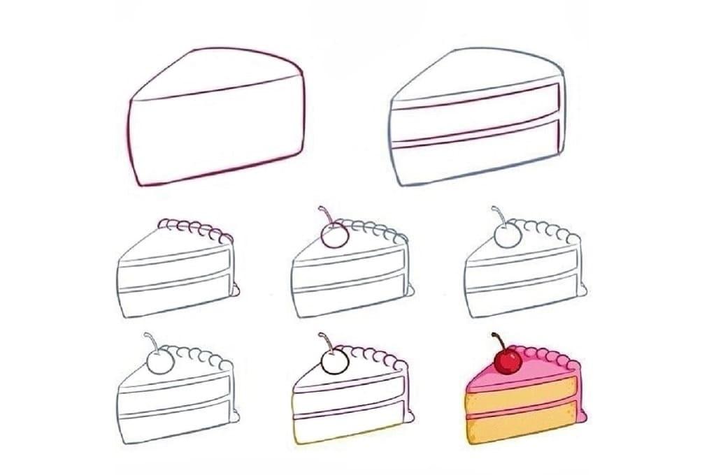 Красивые рисунки тортов для срисовки010