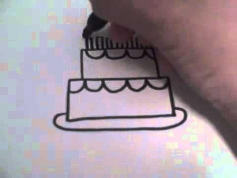 Красивые рисунки тортов для срисовки013