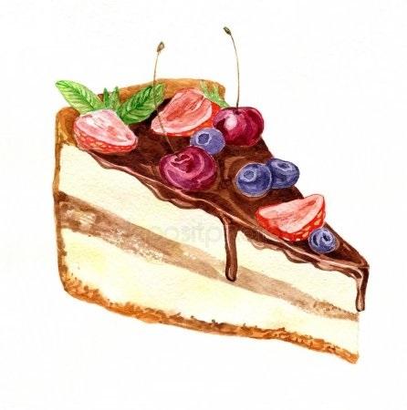 Красивые рисунки тортов для срисовки014