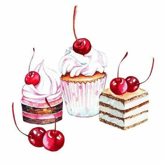 Красивые рисунки тортов для срисовки015