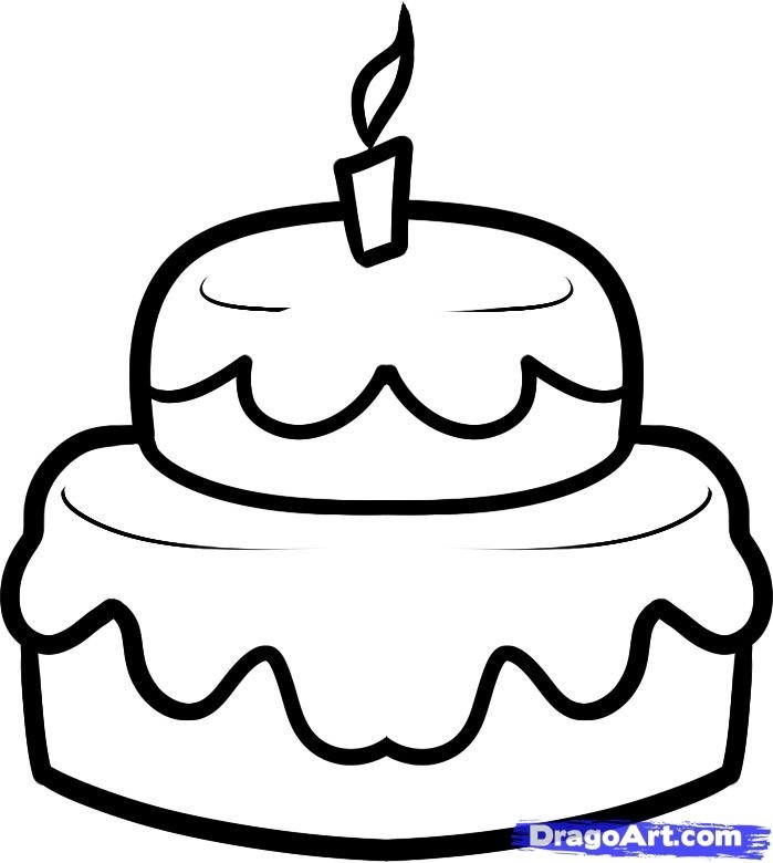 Красивые рисунки тортов для срисовки019