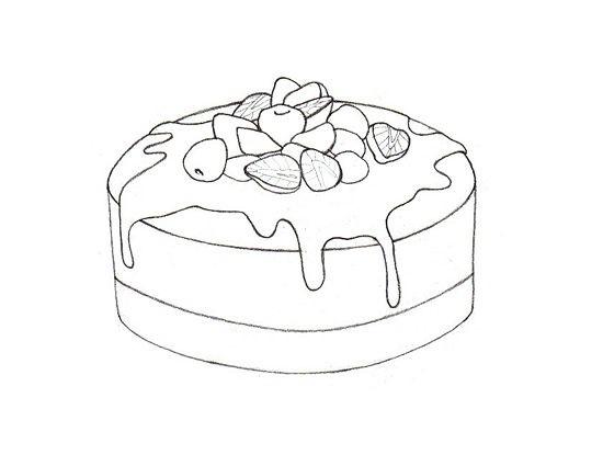 Красивые рисунки тортов для срисовки022