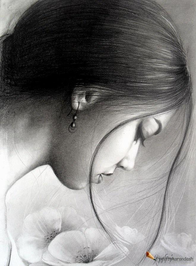 Красивые рисунки углем для срисовки010