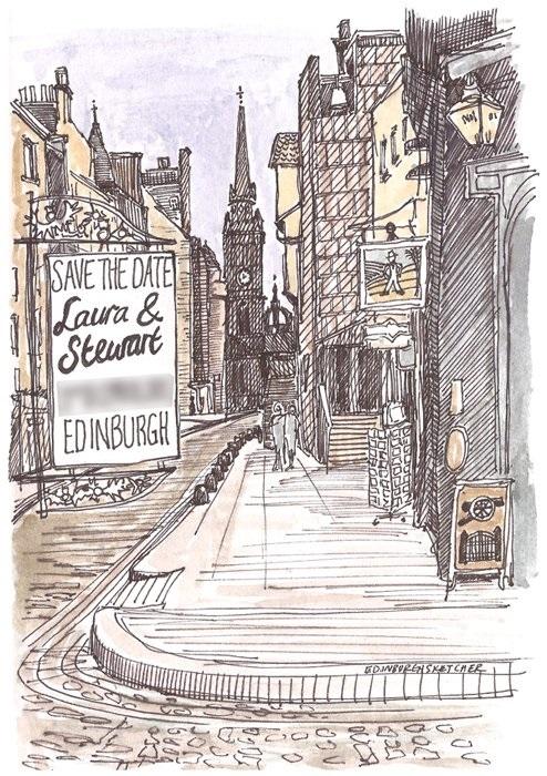 Красивые рисунки улиц для срисовки003