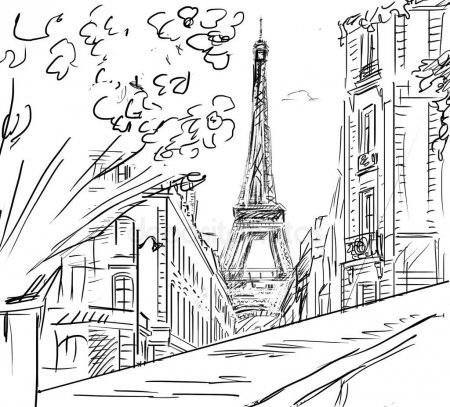 Красивые рисунки улиц для срисовки005