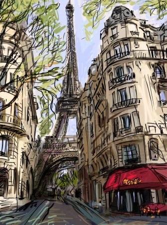 Красивые рисунки улиц для срисовки006