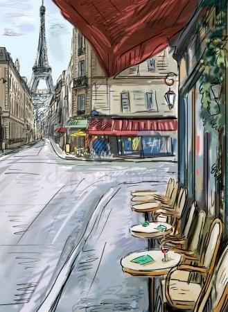 Красивые рисунки улиц для срисовки018