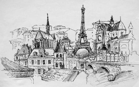 Красивые рисунки улиц для срисовки021