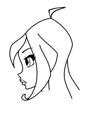 Красивые рисунки фей Винкс для срисовки012