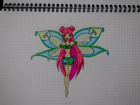 Красивые рисунки фей Винкс для срисовки021