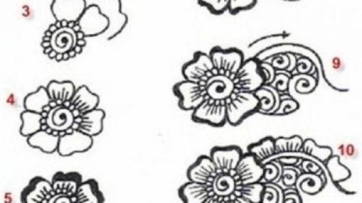 Красивые рисунки хной для срисовки021