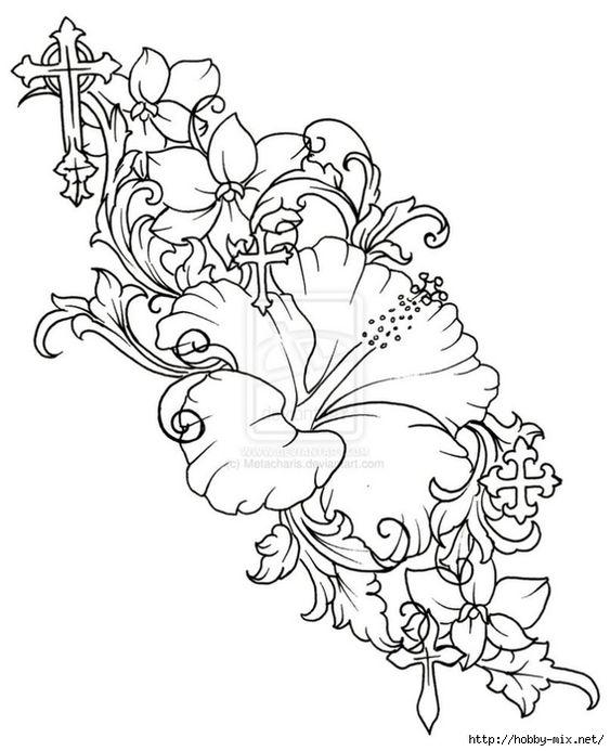Красивые рисунки цветов для срисовки (11)