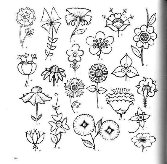 Красивые рисунки цветов для срисовки (12)