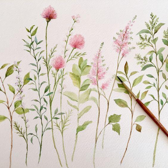 Красивые рисунки цветов для срисовки (15)