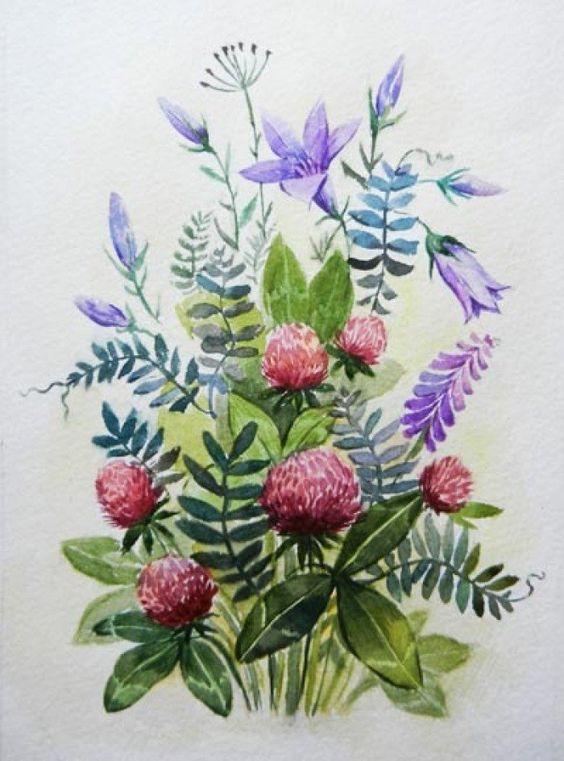 Красивые рисунки цветов для срисовки (20)