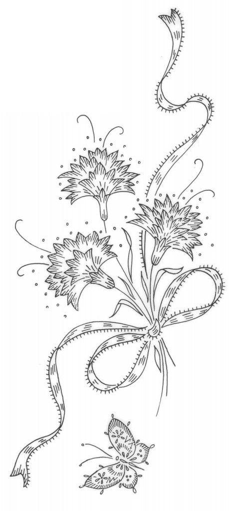 Красивые рисунки цветов для срисовки (22)