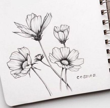 Красивые рисунки цветов для срисовки (6)