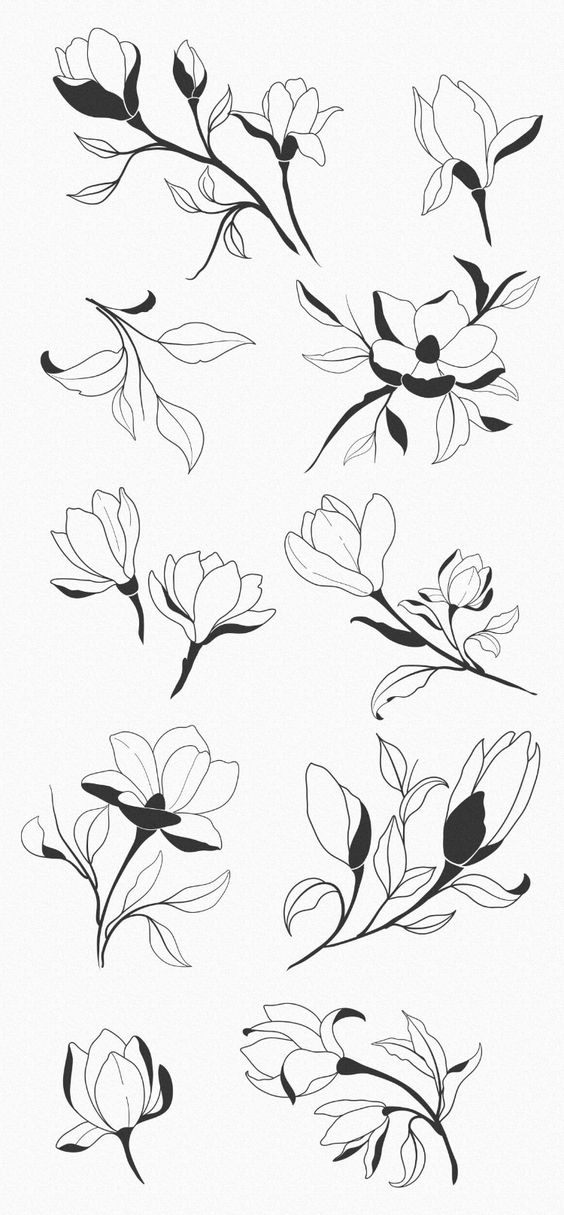 Красивые рисунки цветов для срисовки (7)