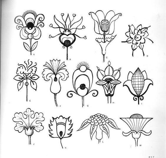 Красивые рисунки цветов для срисовки (8)
