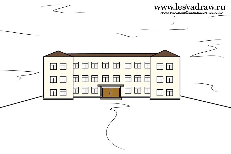 Красивые рисунки школы для срисовки005