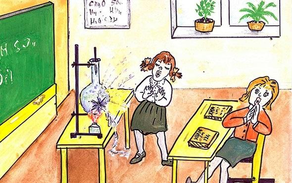 Красивые рисунки школы для срисовки007