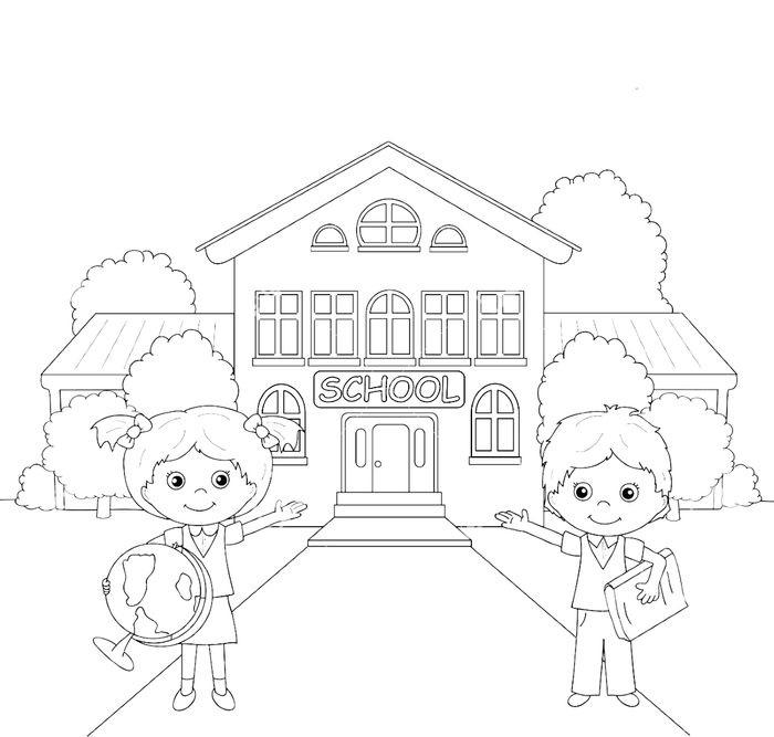 Красивые рисунки школы для срисовки015