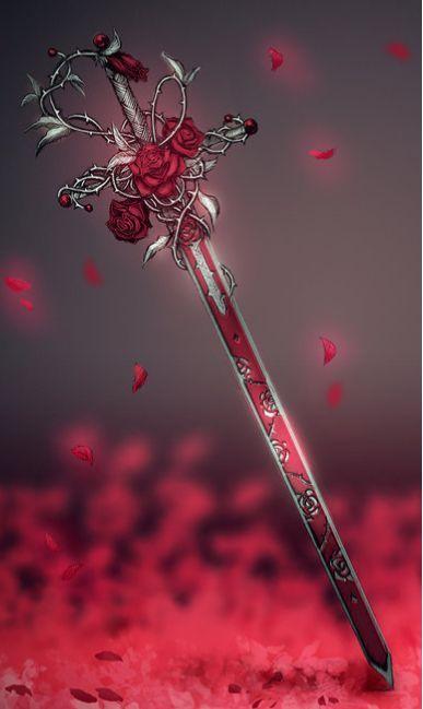 Красивые рисунки щитов и мечей для срисовки (1)