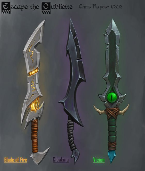 Красивые рисунки щитов и мечей для срисовки (11)