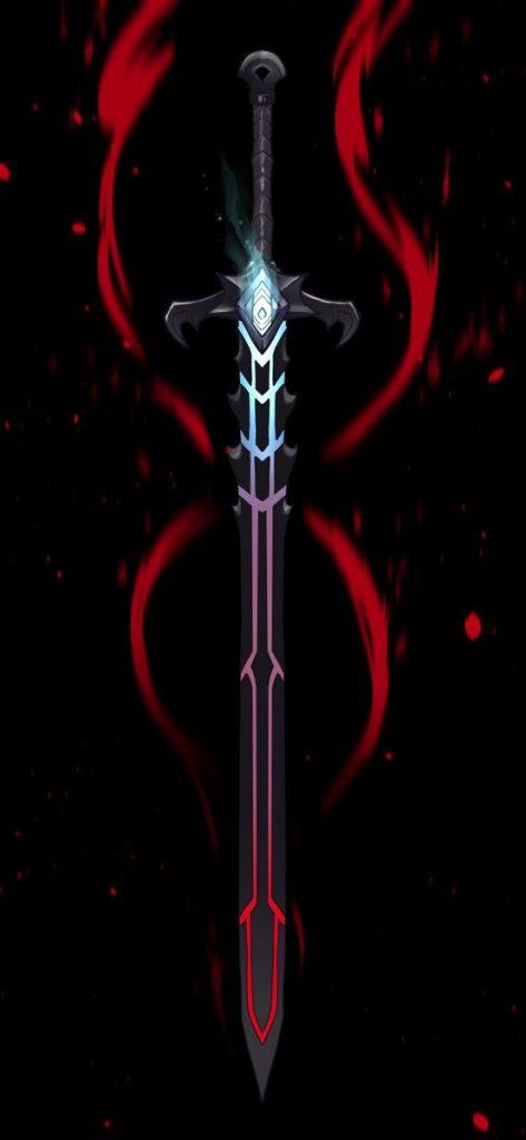 Красивые рисунки щитов и мечей для срисовки (14)