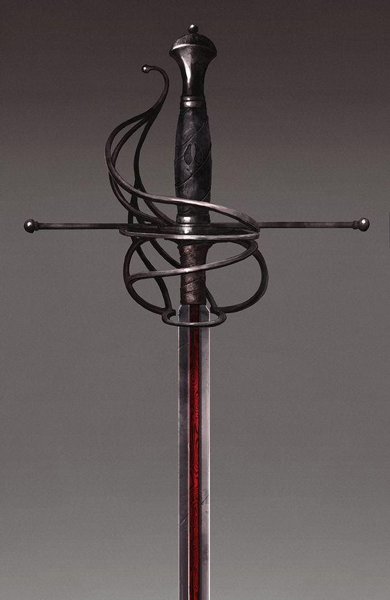 Красивые рисунки щитов и мечей для срисовки (20)