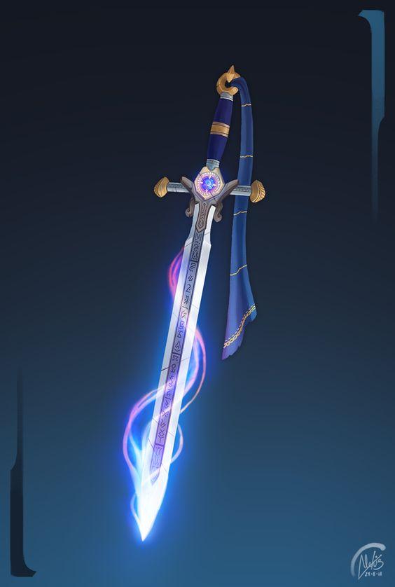 Красивые рисунки щитов и мечей для срисовки (21)