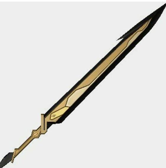 Красивые рисунки щитов и мечей для срисовки (5)