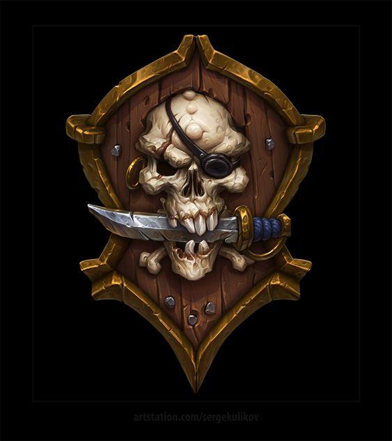Красивые рисунки щитов и мечей для срисовки (6)