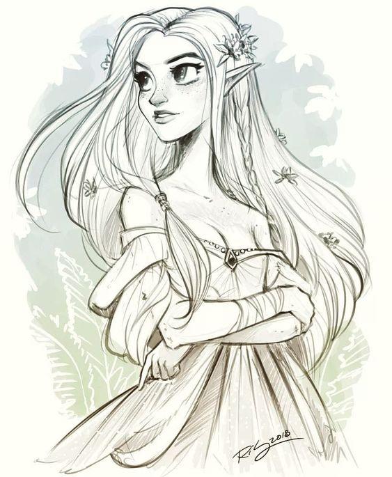 Красивые рисунки эльфов для срисовки (15)