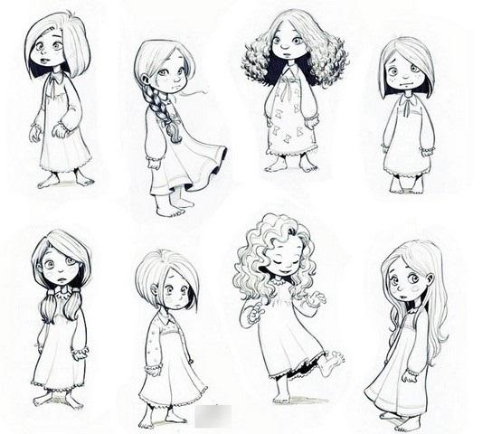 Красивые рисунки эскизов для срисовки010