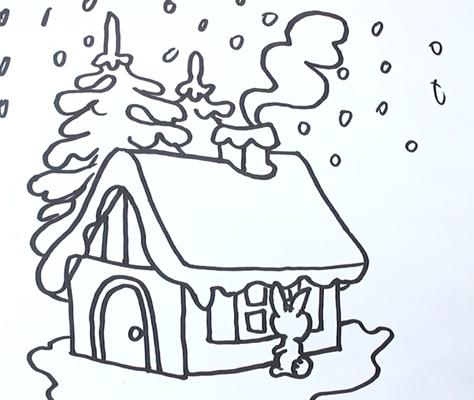Красивый рисунок карандашом зимы (1)