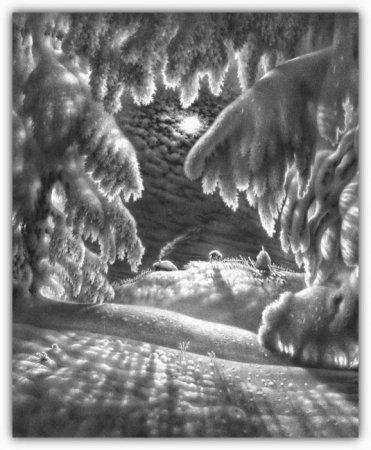 Красивый рисунок карандашом зимы (13)