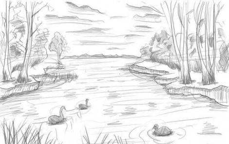 Красивый рисунок карандашом зимы (14)