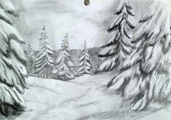 Красивый рисунок карандашом зимы (15)