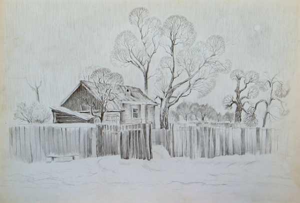 Красивый рисунок карандашом зимы (16)
